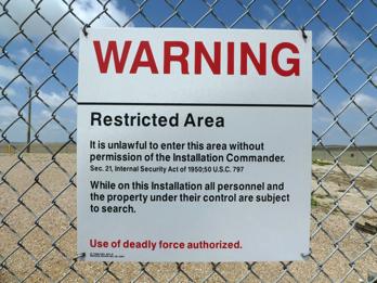 Minuteman III Silo samt Warnung